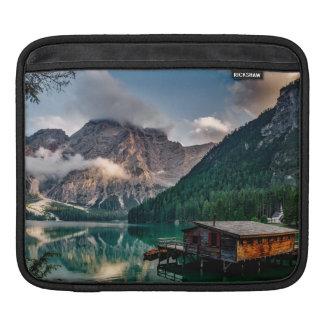 Italian Mountains Lake Landscape Photo iPad Sleeve