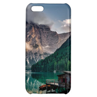 Italian Mountains Lake Landscape Photo iPhone 5C Covers