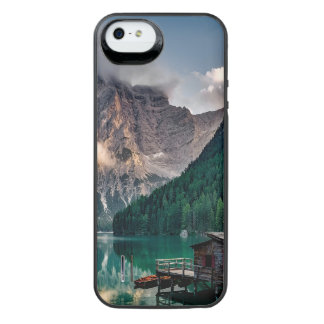 Italian Mountains Lake Landscape Photo iPhone SE/5/5s Battery Case
