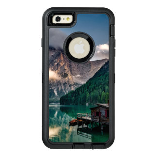 Italian Mountains Lake Landscape Photo OtterBox Defender iPhone Case