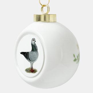 Italian Owl Grizzle Pigeon Ceramic Ball Decoration