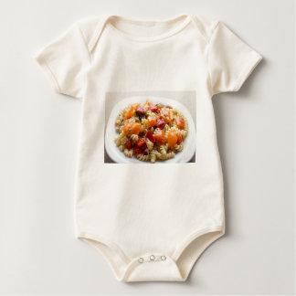 Italian pasta fusilli with vegetable sauce baby bodysuit