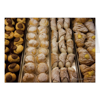 Italian pastries greeting card