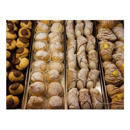 Italian pastries postcards