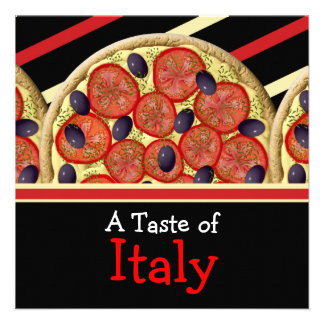 Italian pizza Italy party Announcements
