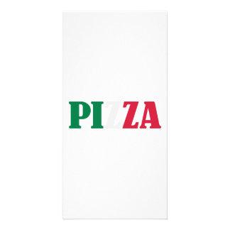 Italian pizza personalized photo card
