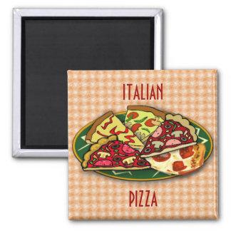 Italian Pizza Square Magnet