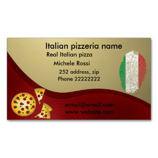 Italian pizzeria 	Magnetic business card