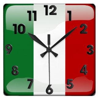 Italian polished square wall clock