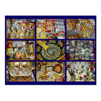 Italian Pottery Postcard