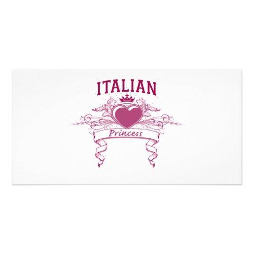 Italian Princess Photo Card Template