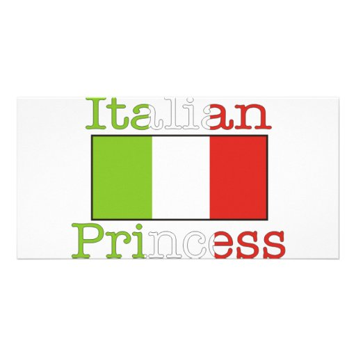 Italian Princess Photo Card
