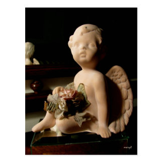 Italian Putto (Cherub) with Rose Postcard