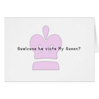 Italian-Queen Card