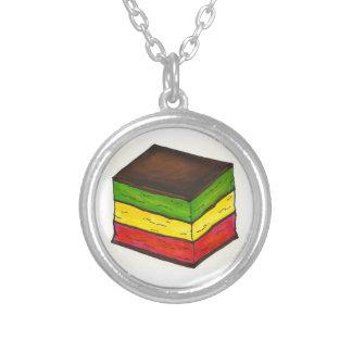 Italian Rainbow 7 Layer Christmas Cookie Necklace