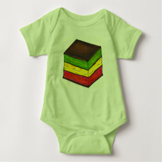 Italian Rainbow Seven 7 Layer Christmas Cookie Baby Bodysuit