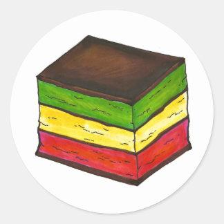 Italian Rainbow Seven Layer Christmas Xmas Cookie Classic Round Sticker