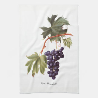 Italian Red Grapes Kitchen Towel
