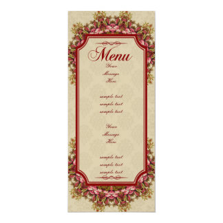Italian Renaissance Garden Suite - Menus 10 Cm X 24 Cm Invitation Card