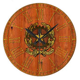 Italian Republic Pine Wood Large Clock