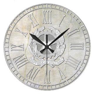 Italian Republic Vintage Plaster Look Large Clock