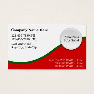 Italian Restaurant Business Cards