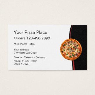 Italian Restaurant Pizza Business Card