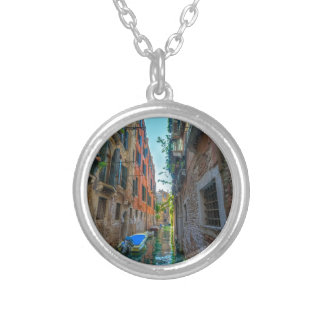 Italian River Silver Plated Necklace