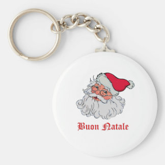 Italian Santa Claus #2 Basic Round Button Key Ring