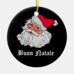 Italian Santa Claus #2 Round Ceramic Decoration