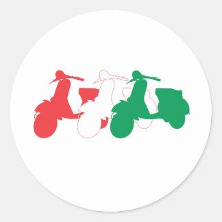 Italian Scooter Classic Round Sticker