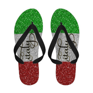 Italian Simulated Glitter Flip Flops