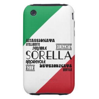 Italian Sisters : Qualities Tough iPhone 3 Cases