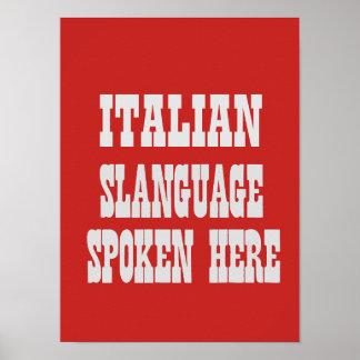 Italian slanguage poster