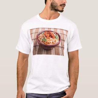 Italian spaghetti with tomato relish and basil T-Shirt