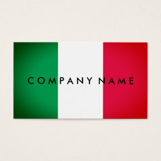 Italian Spotlight Effect Flag, Italy Business Card