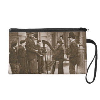 Italian Street Musicians, from 'Street Life in Lon Wristlet Clutches