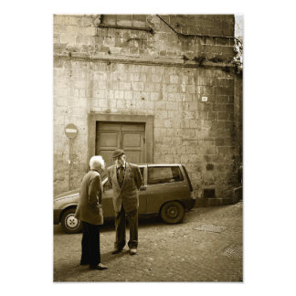 Italian street scene in sepia photo print