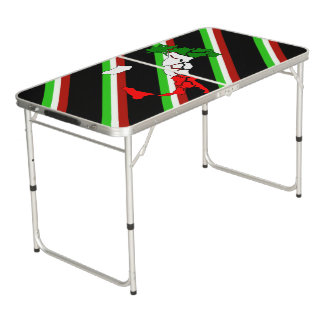 Italian stripes flag beer pong table