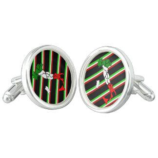 Italian stripes flag cuff links