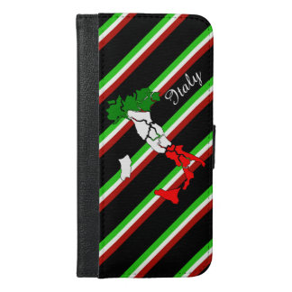Italian stripes flag iPhone 6/6s plus wallet case