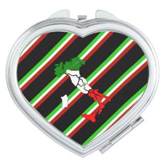 Italian stripes flag vanity mirror