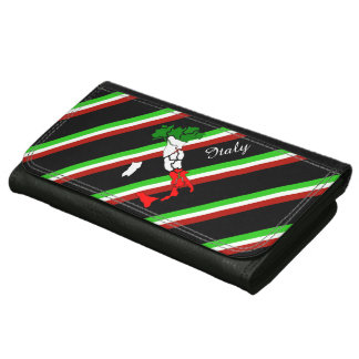 Italian stripes flag wallets for women
