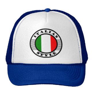 ITALIAN STYLE CAP
