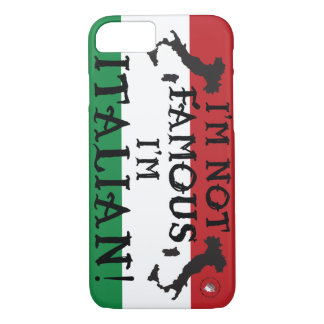 italian style flag boot not famous italy italia iPhone 8/7 case