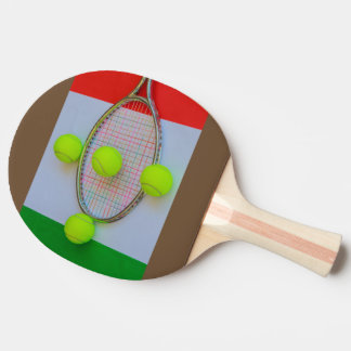 ITALIAN TENNIS  Ping Pong Paddle