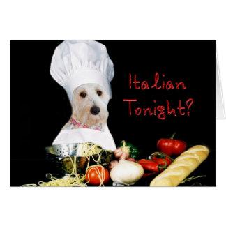 Italian Tonight? Note Card - Kati's Collection