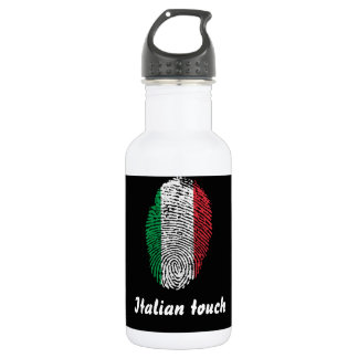 Italian touch fingerprint flag 532 ml water bottle