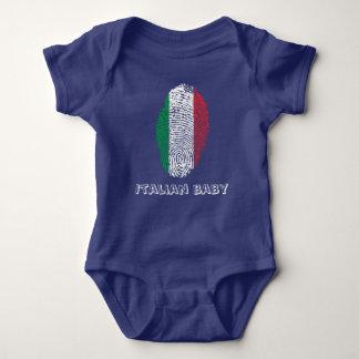 Italian touch fingerprint flag baby bodysuit