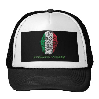 Italian touch fingerprint flag cap